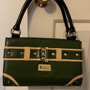 Miche Classic Shell Darla in green and cream.